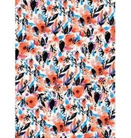Waste Not Paper Abstract Watercolor Floral Half Sheet