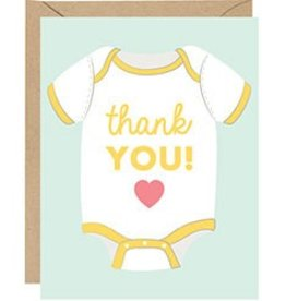 Waste Not Paper Baby Onesie Thank You, Boxed