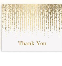 Waste Not Paper Chandelier Foil Thank You, Boxed