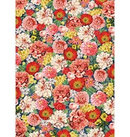 Waste Not Paper Dark Floral Half Sheet