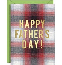 Waste Not Paper Father's Day Plaid