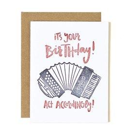 1Canoe2 Accordion Birthday Card