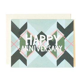 1Canoe2 Anniversary Argyle Card