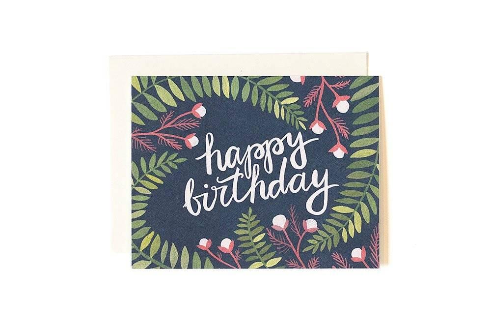 1Canoe2 Birthday Ferns Card