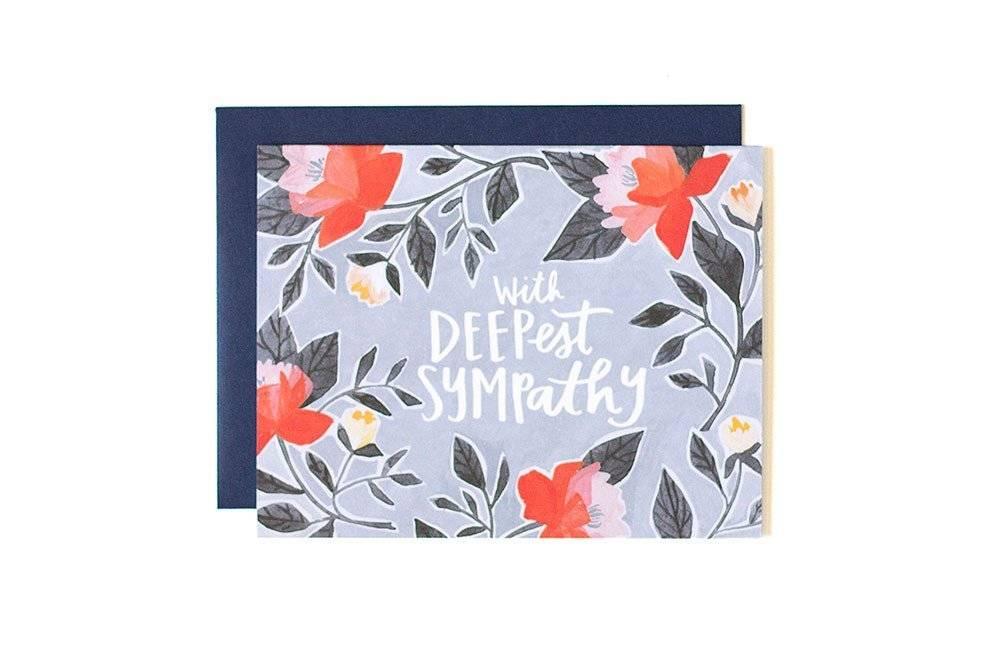 1Canoe2 Deepest Sympathy Card