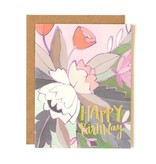 1Canoe2 Floral Foil Birthday Card