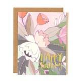 1Canoe2 Floral Foil Birthday Card