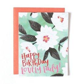 1Canoe2 Lovely Floral Birthday Card