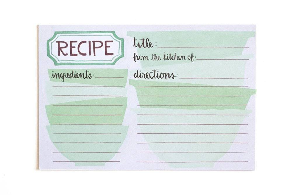 1Canoe2 Mixing Bowls Recipe Cards