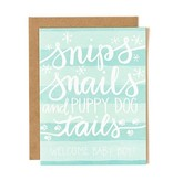1Canoe2 Snips Snails Baby Boy Card