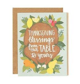 1Canoe2 Thanksgiving Card