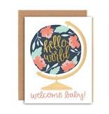 1Canoe2 Welcome Baby Globe Card