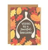1Canoe2 Wishbone Thanksgiving Card