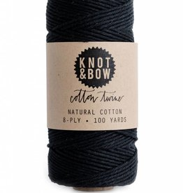 Knot and Bow Solid Black Twine