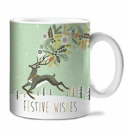 Studio Oh! Festive Wishes Ceramic Mug