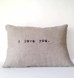 Casa & Co. I Love You Pillow, Sand