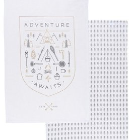 Now Designs Adventure Awaits Dishtowel, Set/2