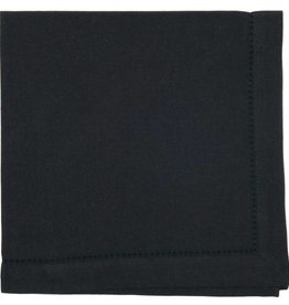 Now Designs Hemstitch Solid Napkin, Black