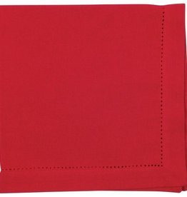 Now Designs Hemstitch Solid Napkin, Chili