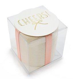 Haute Papier Boxed Foil Coaster Bow