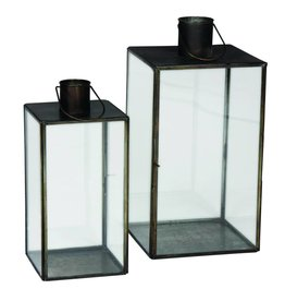 Eight Mood Addis Lantern Large, Black, Set/2