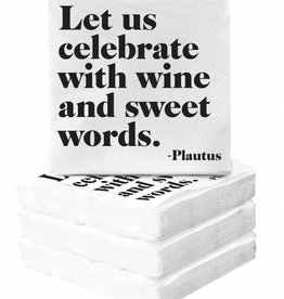 Quotable Celebrate With Wine Napkins