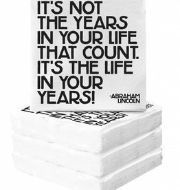 Quotable It's Not the Year Napkins