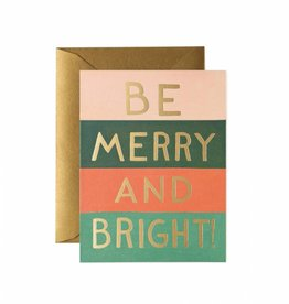 Rifle Paper Be Merry and Bright Color Block Card