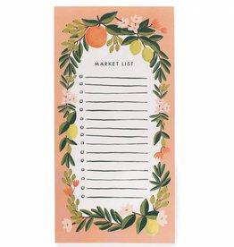 Rifle Paper Citrus Floral Coral Market Pad