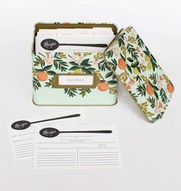 Rifle Paper Citrus Floral Recipe Tin