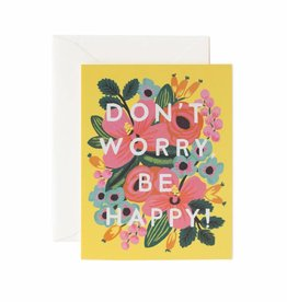 Rifle Paper Don't Worry, Be Happy Card