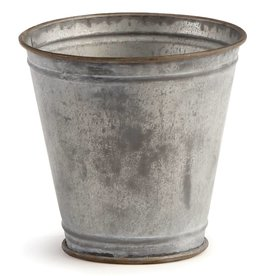 "Napa Home and Garden Paris 5"" Flower Pot, Antq Galvanized"