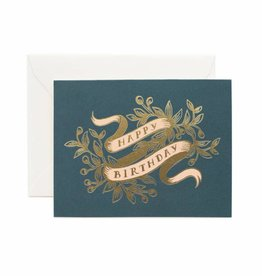 Rifle Paper Foil Banner Birthday Card