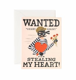 Rifle Paper Heart Bandit Card