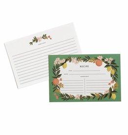 Rifle Paper Citrus Floral Recipe Cards