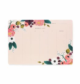 Rifle Paper Pink Floral Weekly Desk Pad