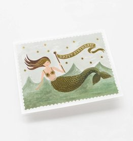Rifle Paper Vintage Mermaid Birthday Card
