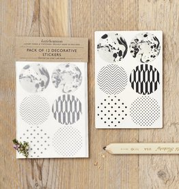Katie Leamon B&W Pattern Stickers