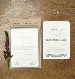 Katie Leamon Dotty Party Invitations