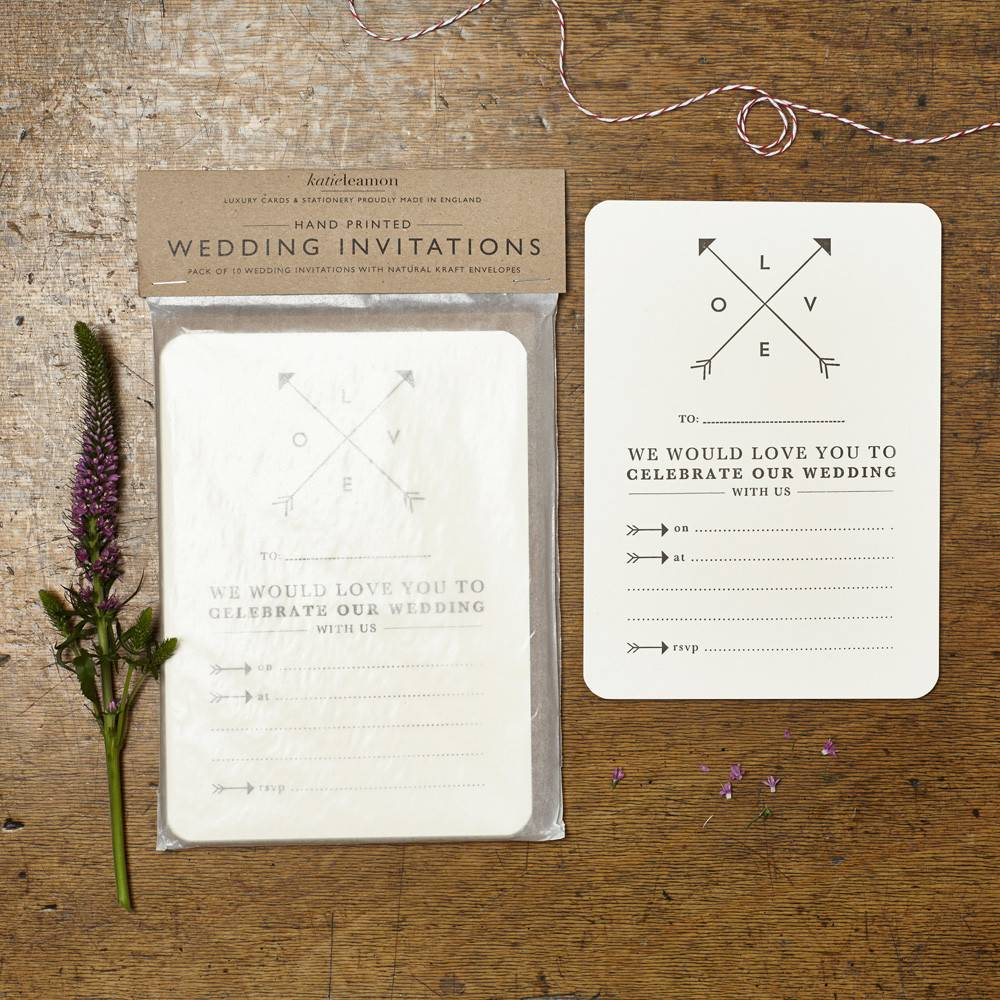 Katie Leamon Love Wedding Invitations - Typo Market