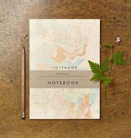 Katie Leamon Cream Marbled Notebook