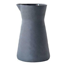 BE Home Dark Gray Stoneware Carafe