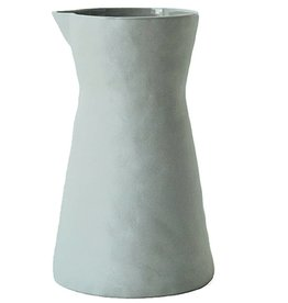 BE Home Light Gray Stoneware Carafe
