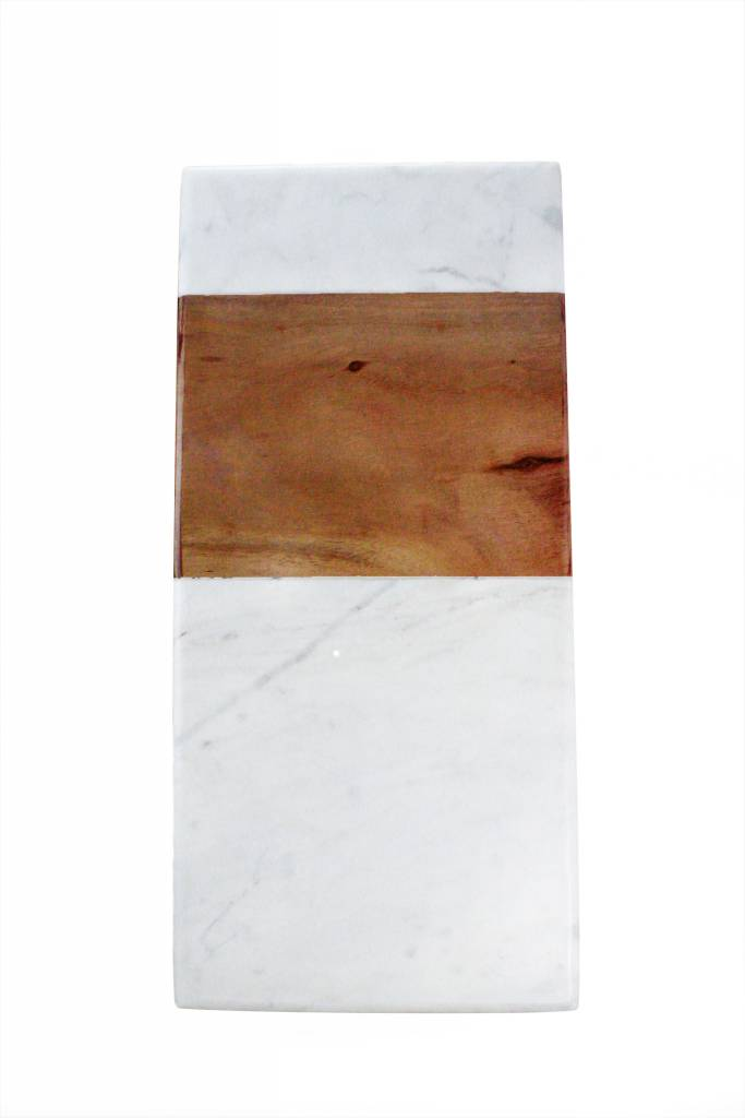 BE Home Marble Acacia Rectangular Platter