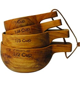 BE Home Teak Measuring Cups LG