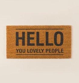 """Bloomingville Doormat 'Hello"""""""