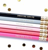 Taylor Elliott Dream Big Darling Pencils, Set/6