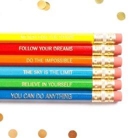 Taylor Elliott Motivational Pencils, Set/6