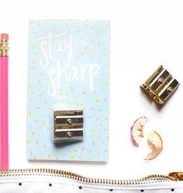 Taylor Elliott Stay Sharp Gold Pencil Sharpener