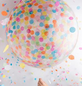 Knot and Bow Jumbo Confetti Balloon:  Assorted